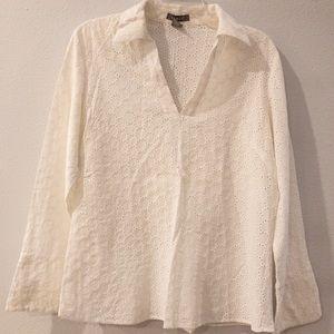 KENAR White Long Sleeved Blouse